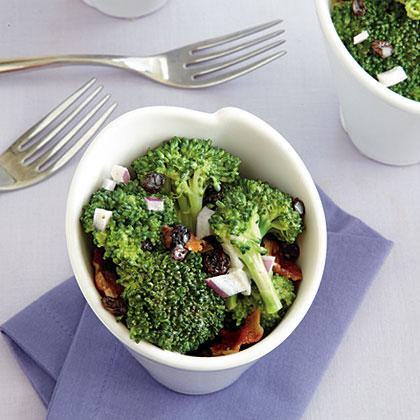 Broccoli Crunch Salad with Bacon Currants