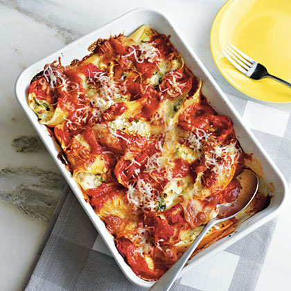 Cheesy Stuffed Shells with My Secret Tomato Sauce