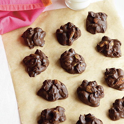 Chocolate-Butterscotch-Nut Clusters