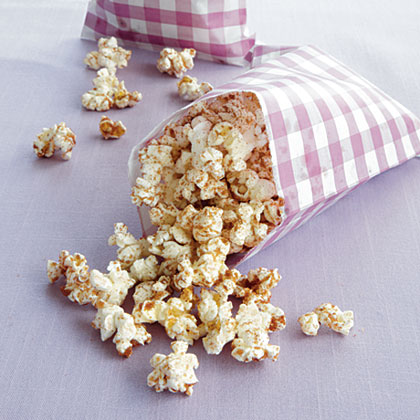 Cinnamon-Sugar Popcorn RecipeLook for air-popped popcorn with no added ingredients or just pop your own.  Sprinkle the cinnamon-sugar mixture on top for a yummy, family-friendly treat.