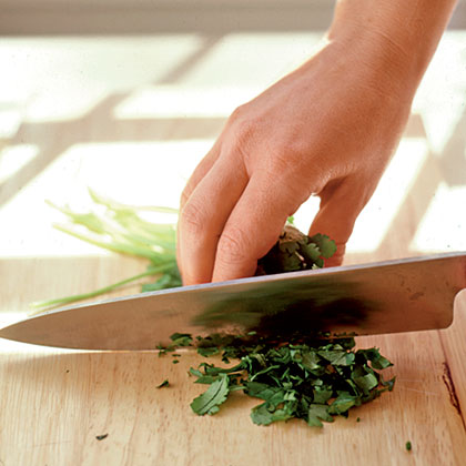 What's the best or easiest way to chop fresh herbs?