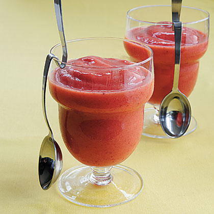 Icy Tropical Smoothies RecipeKids absolutely love smoothies, so why not serve them one that's dairy-free? Fresh frozen organic strawberries, pineapple chunks, and mango create the perfect combination for a sweet snack.