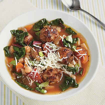 Mini Meatball Minestrone Recipe