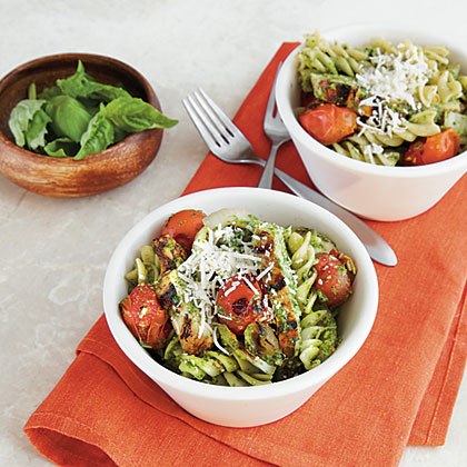 Pesto Pasta with Chicken and Tomatoes Recipe