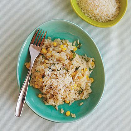 Risotto with Corn and BasilRecipe