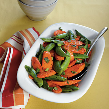 Roasted Carrots and Snap Peas Recipe