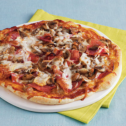 Salami and Mushroom Pizza Recipe