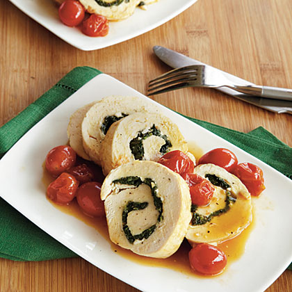 Spinach and Feta–Stuffed Chicken