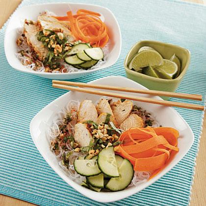 Thai Chicken Noodle Bowls Recipe