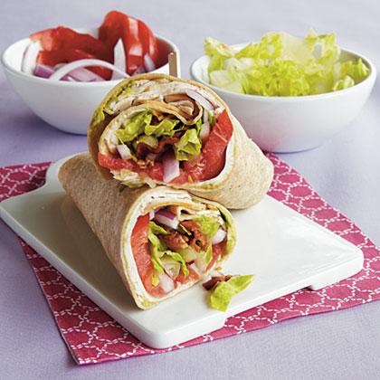 Turkey Club Wraps Recipe