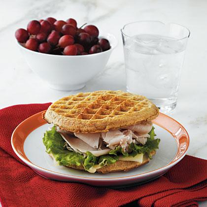 Waffle Turkey-and-Cheese Sami