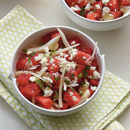Watermelon and Fennel Salad with Honey-Lime Vinaigrette