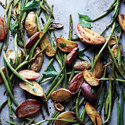 Roasted Potatoes and Green Beans Recipe
