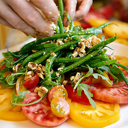 Heirloom Tomato and Haricot Vert Salad