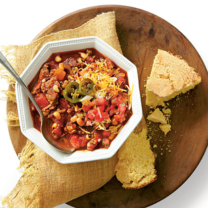 Beef-and-Black-eyed Pea Chili Recipe