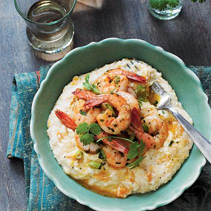 Creole Shrimp and Sweet Potato Grits