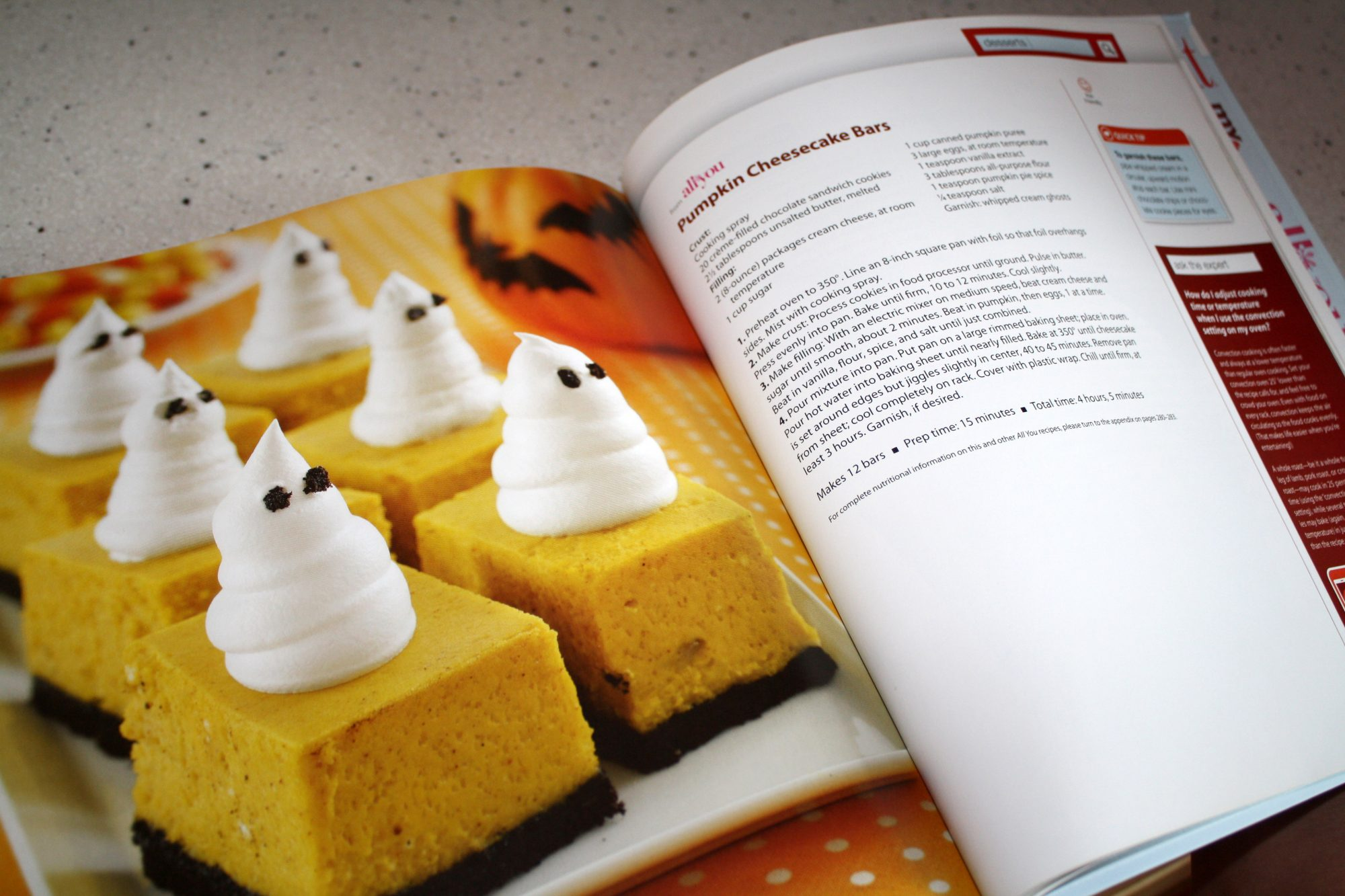 Cook the Book: Pumpkin Cheesecake Bars