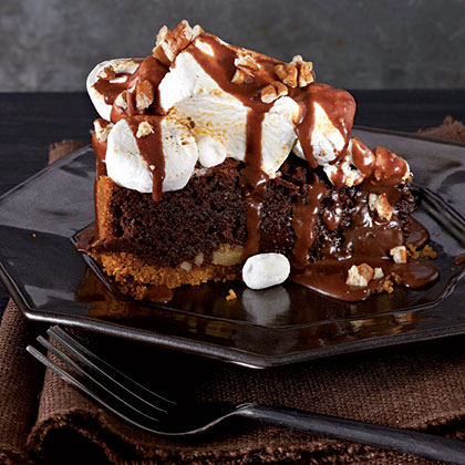 Mississippi Mud S'Mores-Fudge Pie Recipe