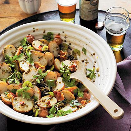 Warm Lentil-and-Potato Salad