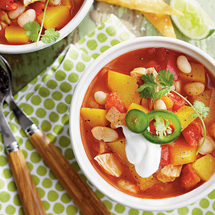 Chicken-and-White Bean Chili with Pumpkin