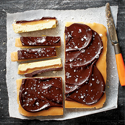 Chocolate-Caramel Shortbread Bars Recipe