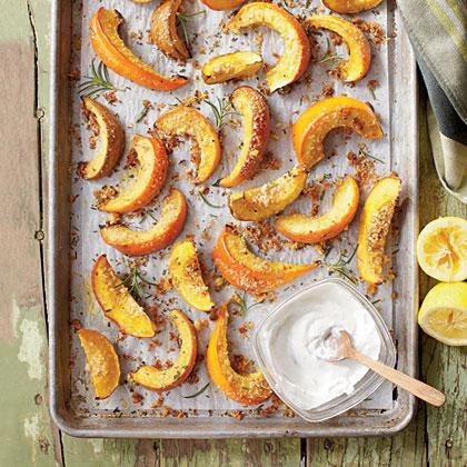 Parmesan-Rosemary Pumpkin WedgesRecipe