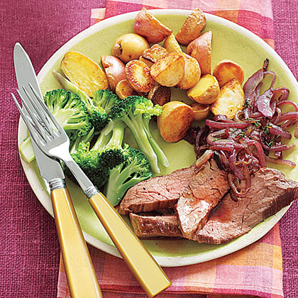 Flank Steak with Red Onions