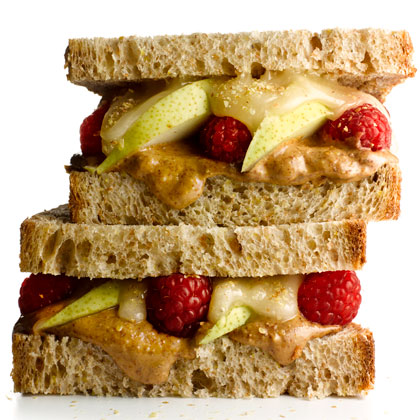 Almond Butter and Fruit Sandwich