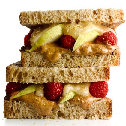 Almond Butter and Fruit Sandwich