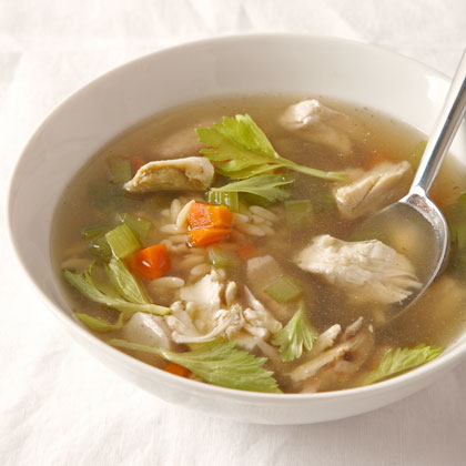 <p>Chicken Stock and Chicken Noodle Soup</p>
