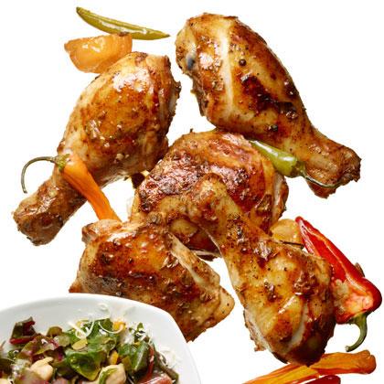 Roast Chicken with Yogurt-Chili Rub