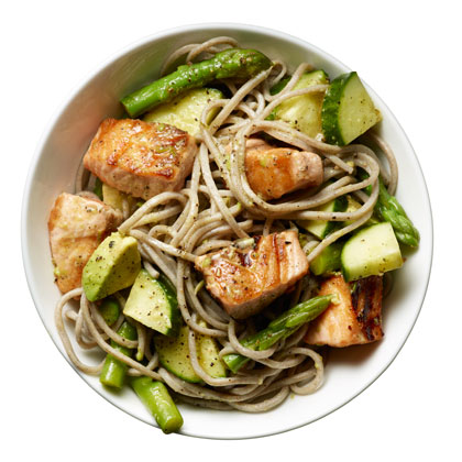 <p>Salmon Noodle Bowl</p>