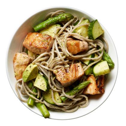 <p>Salmon Noodle Bowl</p>