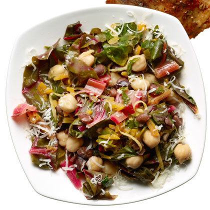<p>Warm-Two Bean Chard Salad</p>