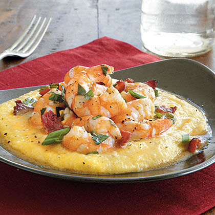 Cheesy shrimp and grits recipe myrecipes What to make with shrimp for dinner