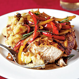 Cook the Book: Roast Chicken with Balsamic Bell Peppers