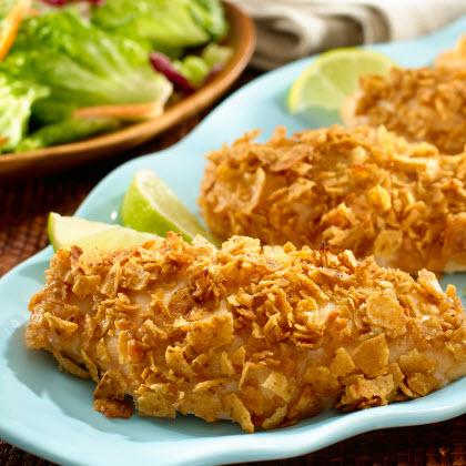 Tortilla-Crusted Chicken Breasts