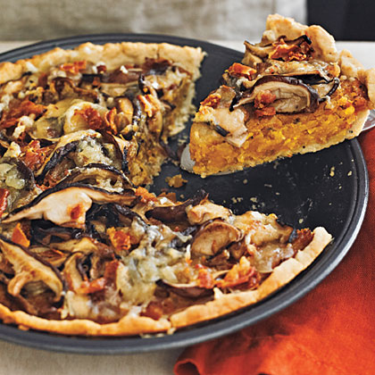 Butternut Squash and Mushroom Tart with Gruyére