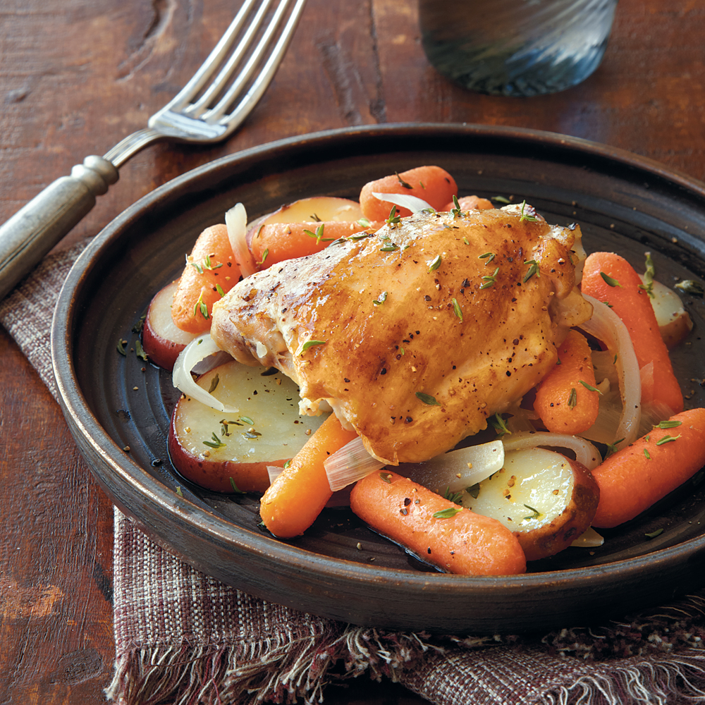 Chicken with Carrots and Potatoes Recipe