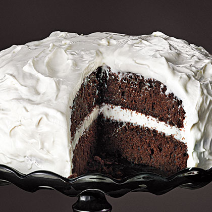 Chocolate Cake With Fluffy Frosting Recipe Myrecipes