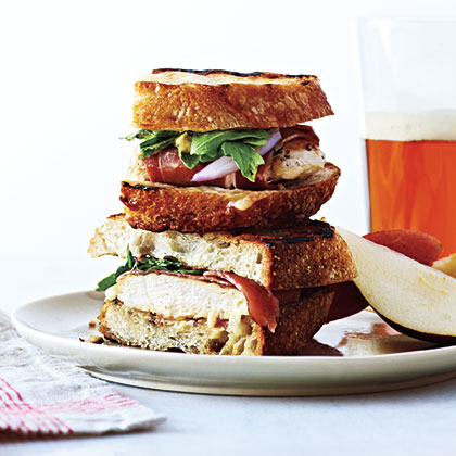 Grilled Ham, Chicken, and Gruyère SandwichesRecipe