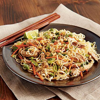 Chinese Pork Tenderloin with Garlic-Sauced Noodles Recipe