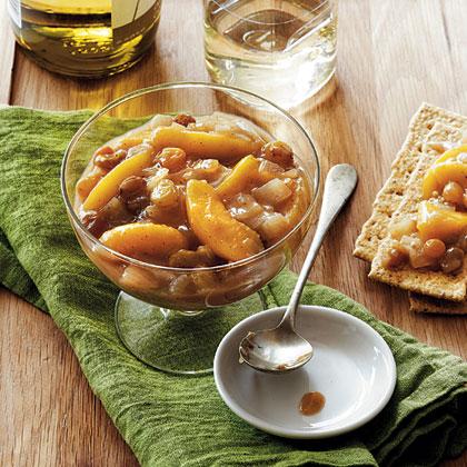 Chunky Peach-Ginger Chutney