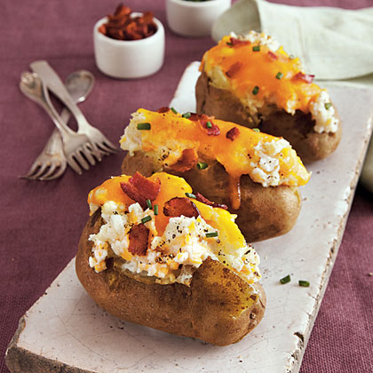 twice baked potatoes loaded baked potatoes recipe myrecipes 12446