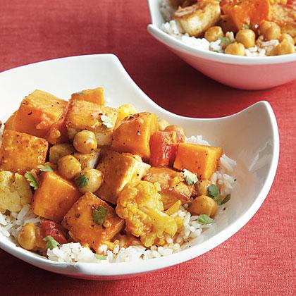 Tofu and Chickpea Curry