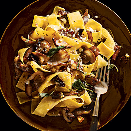 Pappardelle with Mushrooms Recipe