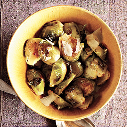 Romano-Topped Brussels Sprouts Recipe