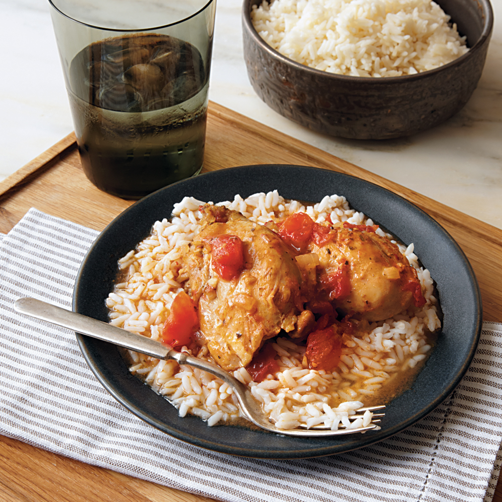 Saucy Chicken over Rice Recipe