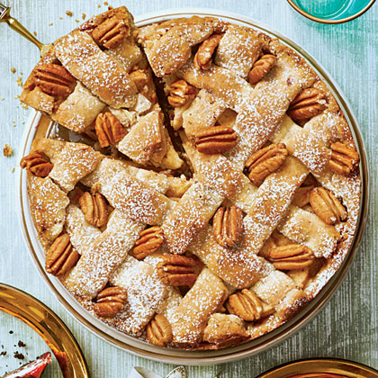 Cranberry-Apple Pie with Pecan Shortbread Crust