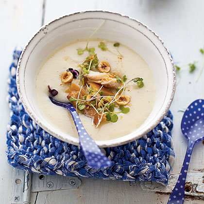 Creamy Celery Root Soup with Smoked Trout Recipe